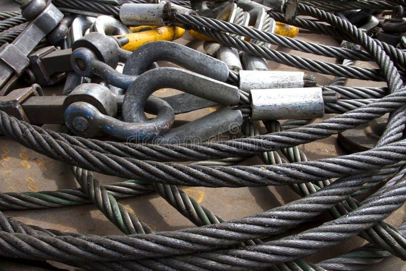 钢丝绳的图象 库存照片