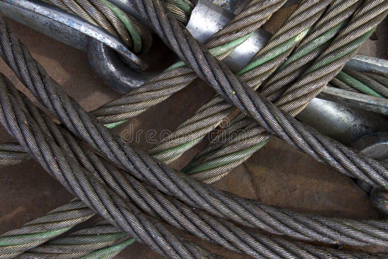 钢丝绳的图象 库存图片