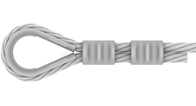 钢丝绳 绳索的附件 循环 库存例证