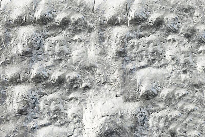 钢凸面墙壁 与土墩的箔 艺术对象的,电脑游戏现代纹理 免版税库存照片