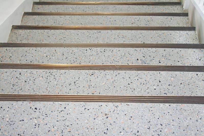 钢和大理石台阶 免版税库存图片
