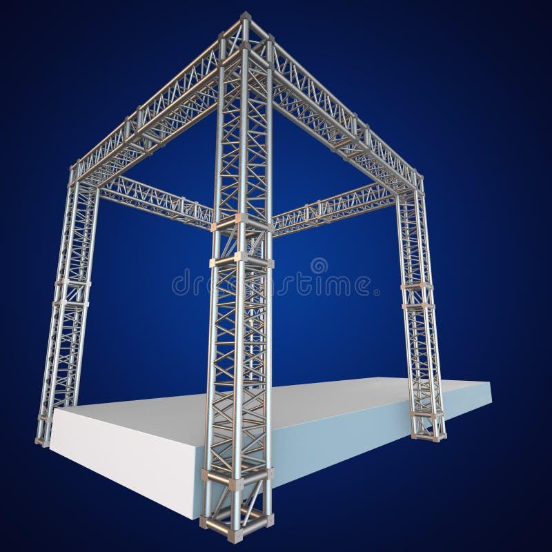 钢捆大梁屋顶建筑 皇族释放例证
