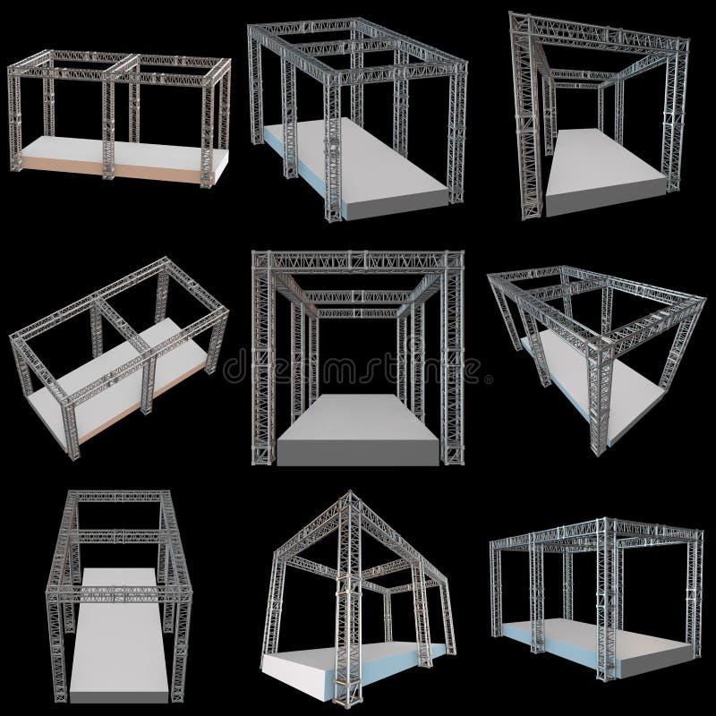 钢捆大梁屋顶建筑 库存例证