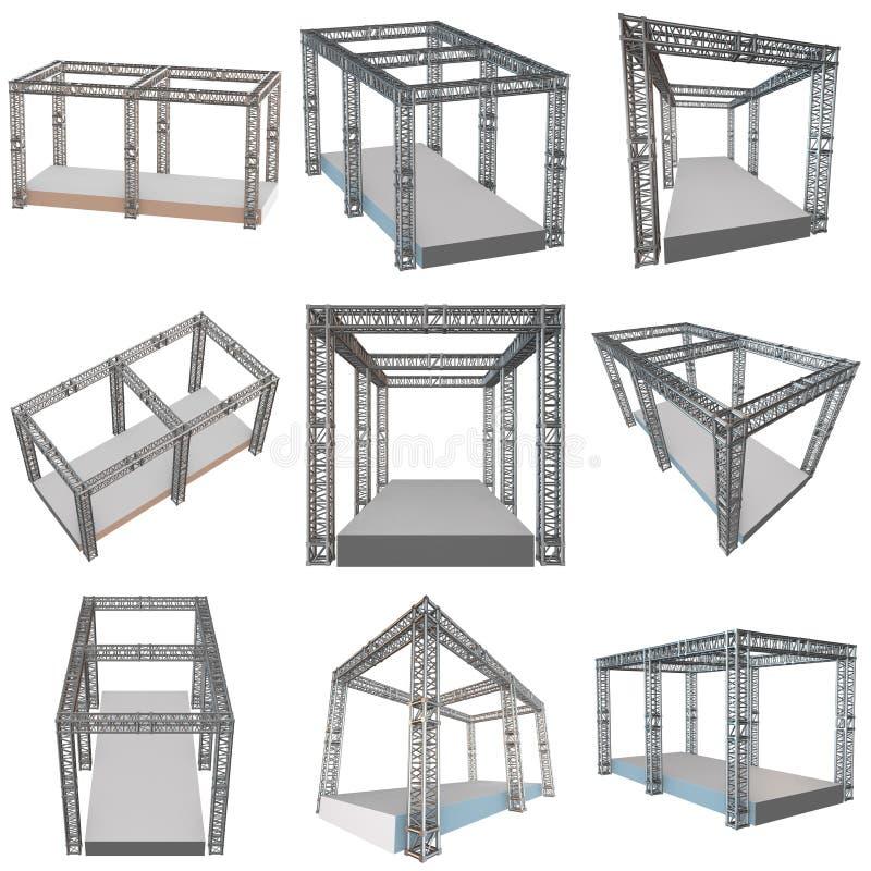 钢捆大梁屋顶建筑 向量例证