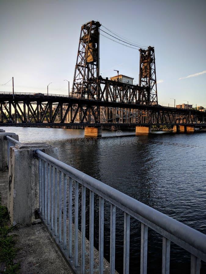 钢桥梁,波特兰俄勒冈 库存图片