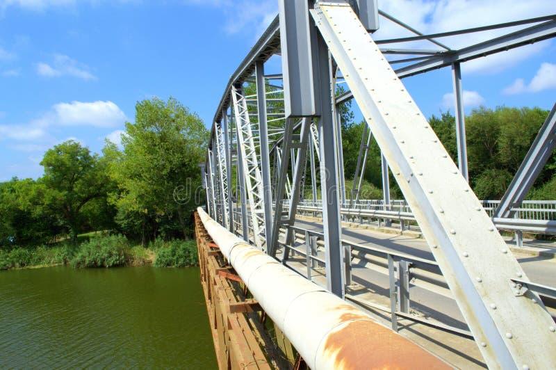 钢桥梁细节 免版税库存图片