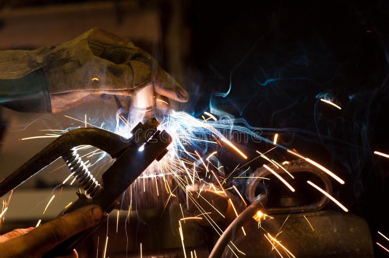 钢焊接 免版税库存照片