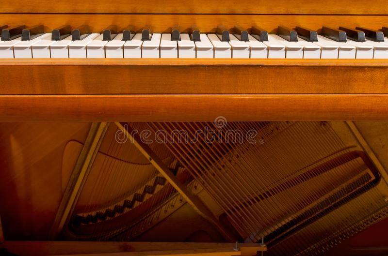 钢琴关键字和于 库存图片
