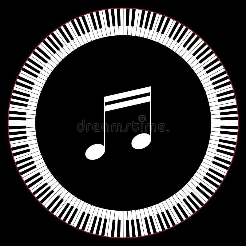 钢琴关键字圈子  皇族释放例证