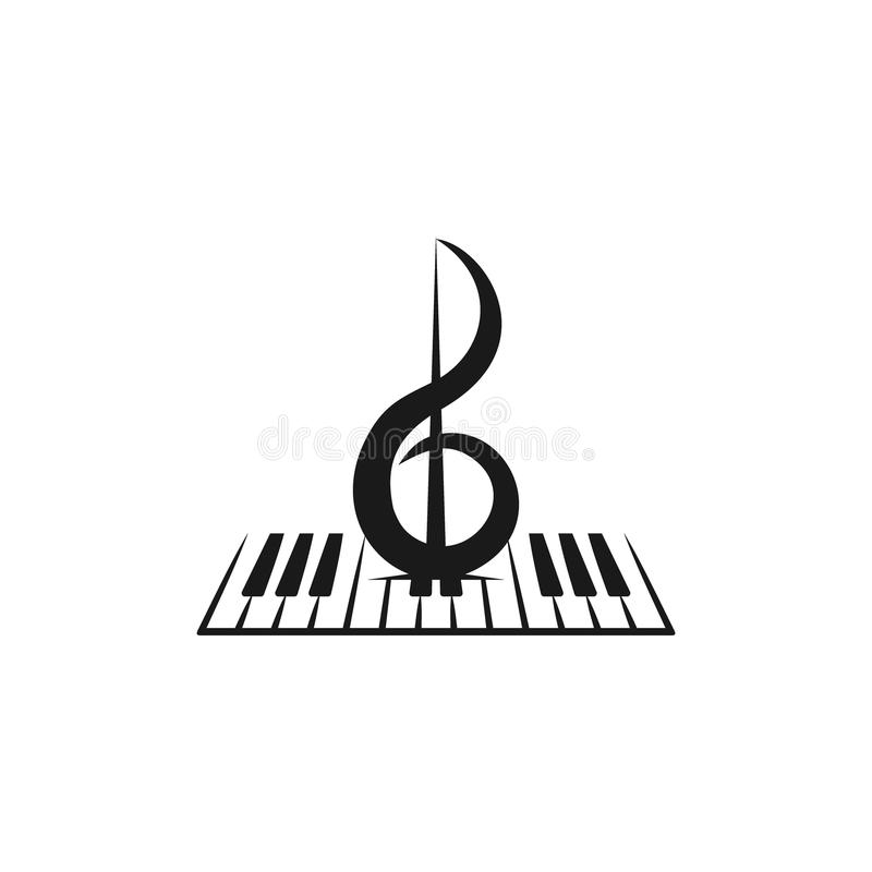 钢琴商标 向量例证