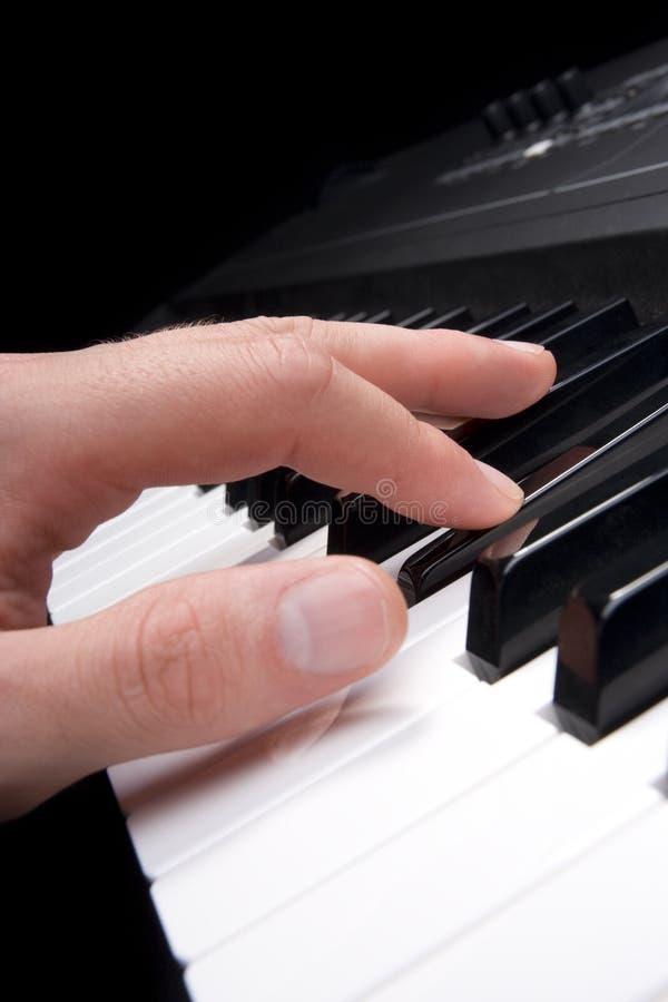 钢琴演奏者 免版税图库摄影