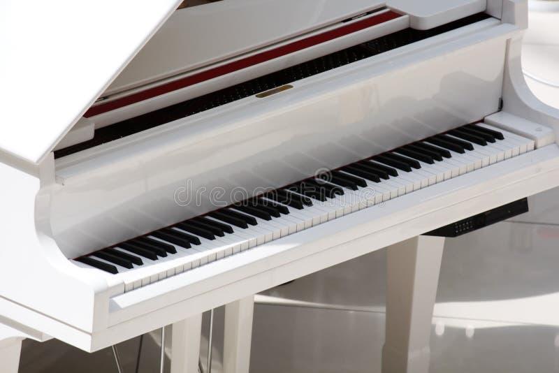 钢琴白色 库存图片