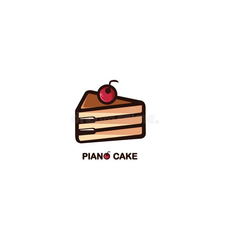 钢琴蛋糕 皇族释放例证
