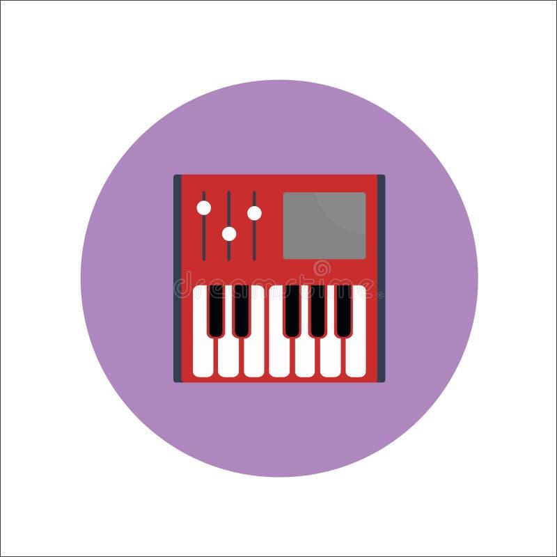 钢琴象传染媒介 库存例证