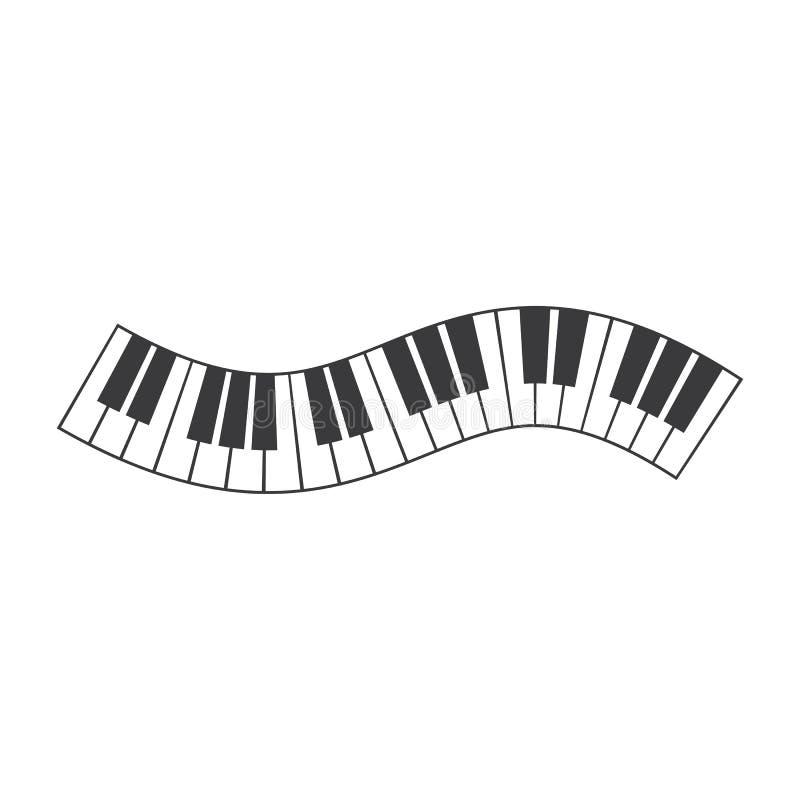 钢琴象传染媒介 向量例证