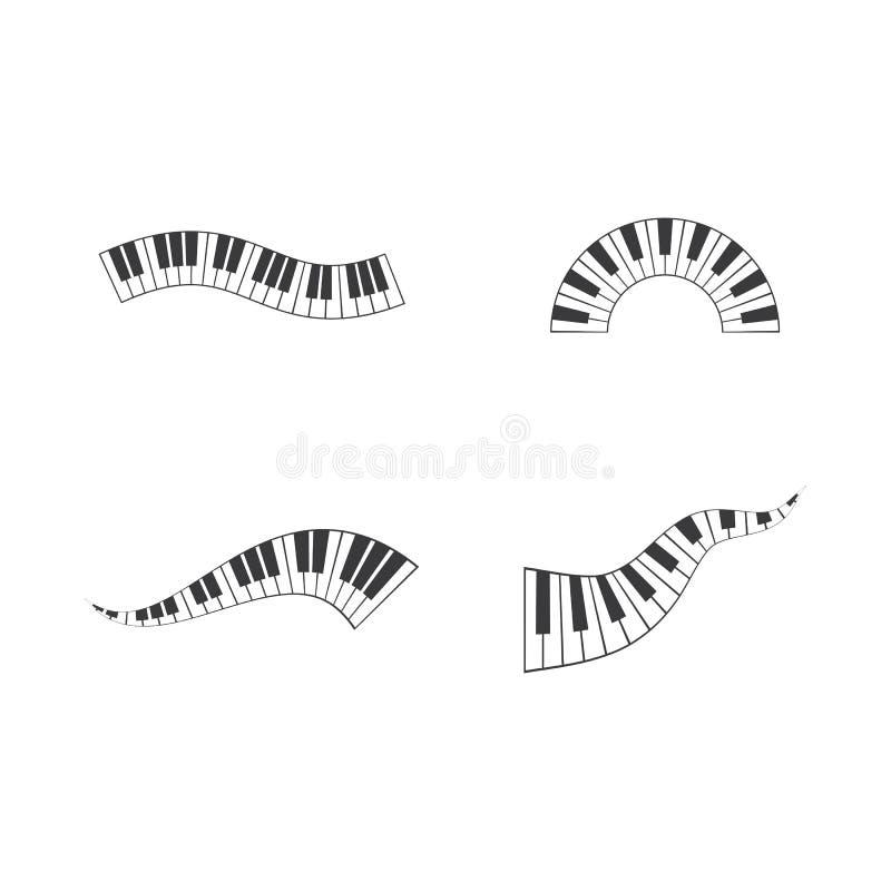钢琴象传染媒介 皇族释放例证