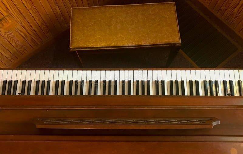 钢琴顶视图  免版税库存照片