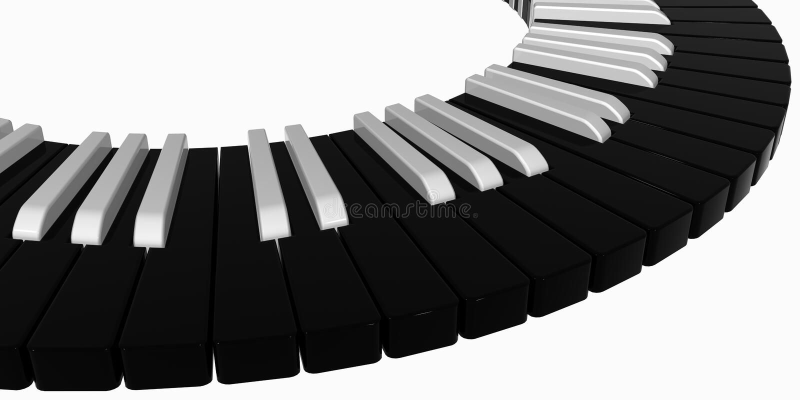 钢琴黑色 免版税库存图片