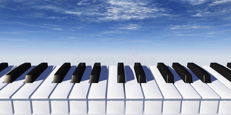 钢琴 向量例证