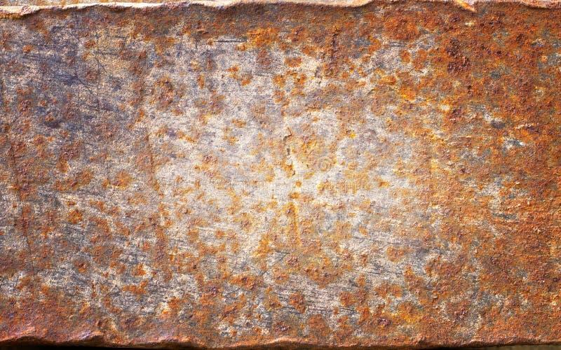 钢生锈的平的纹理 库存图片