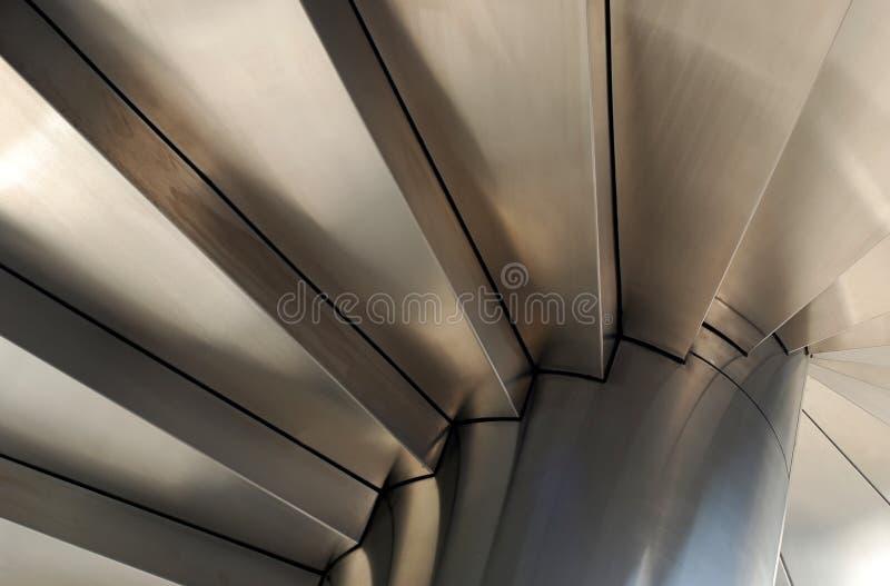 钢的楼梯 库存照片