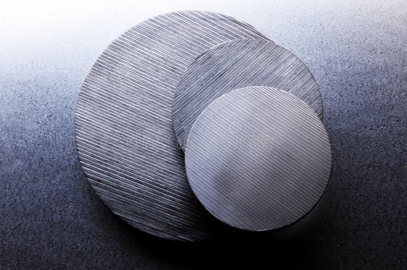 钢的盘 免版税库存图片