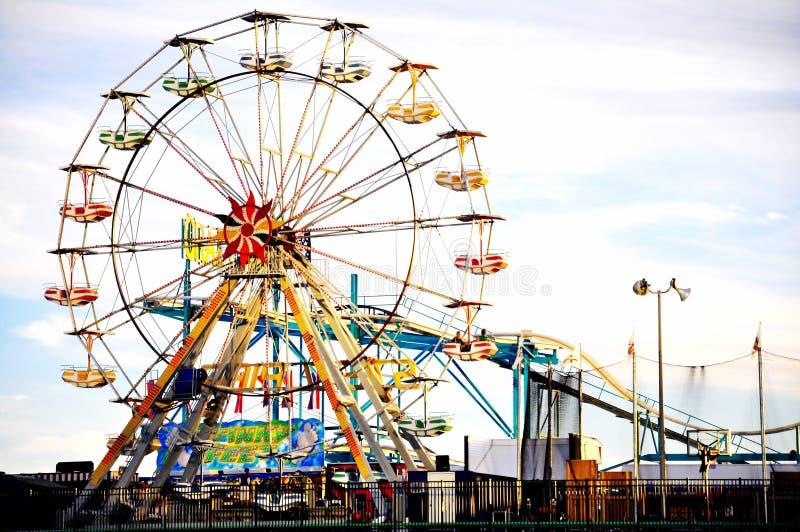 钢码头娱乐在大西洋城, NJ 免版税库存照片