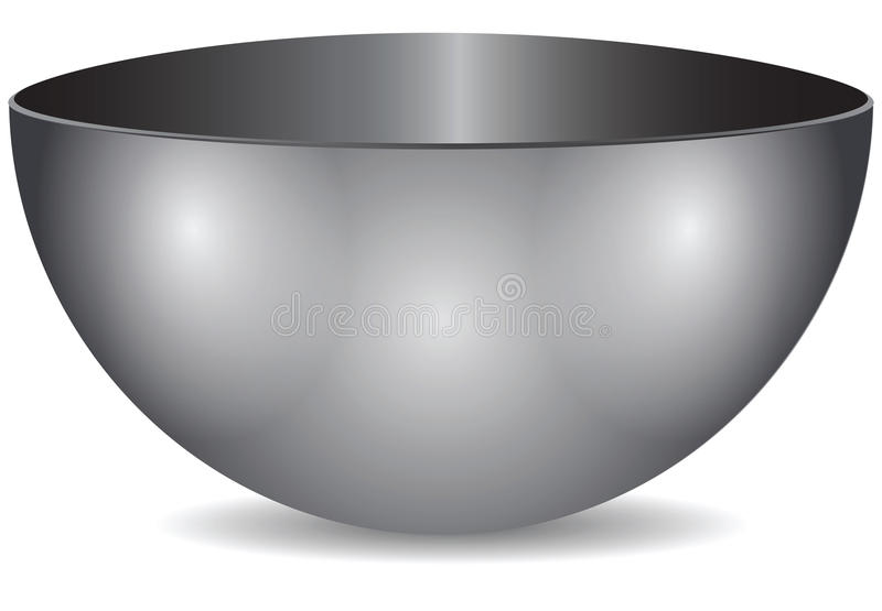 钢碗 向量例证