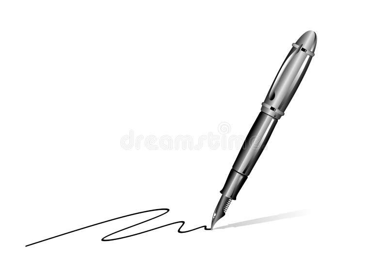 钢笔 库存例证