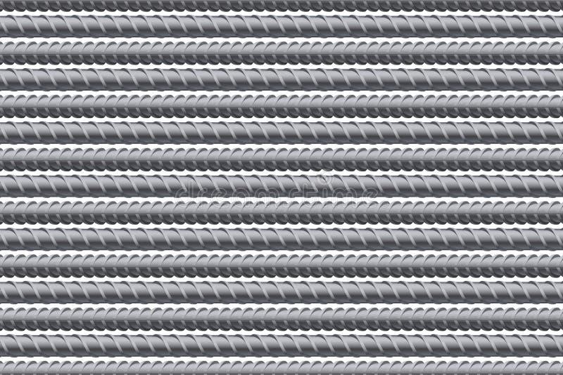 钢筋样式背景 增强钢 库存例证