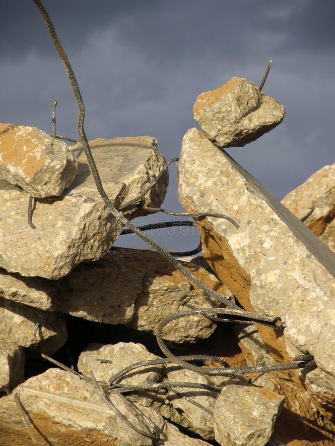 钢筋瓦砾 库存图片