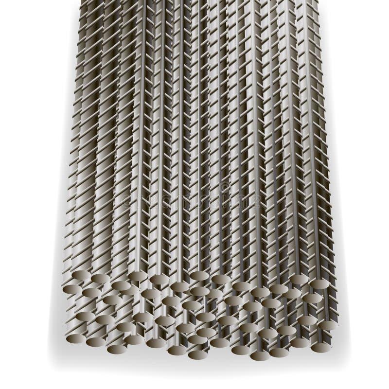 钢筋,增强钢建筑电枢 向量例证