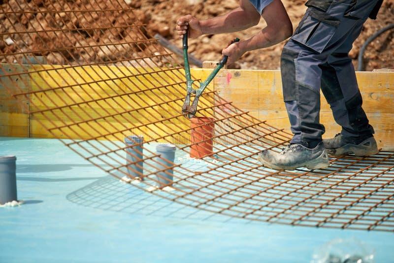 钢筋-射线的增强铁棍的设施 库存图片
