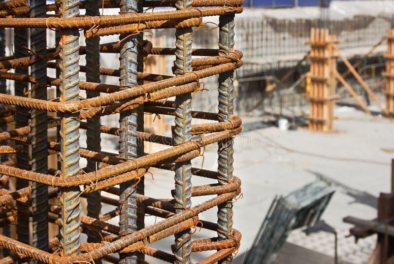 钢筋建造场所 免版税库存照片