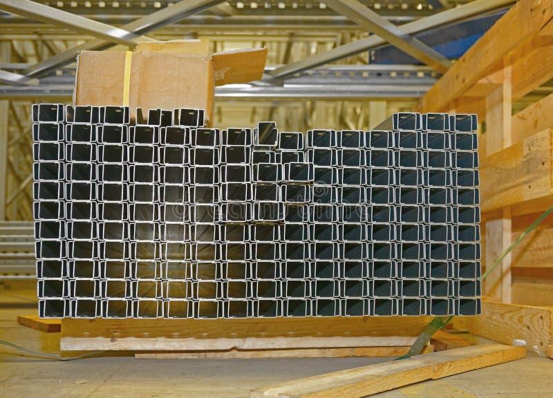 钢管材输送管道 免版税图库摄影