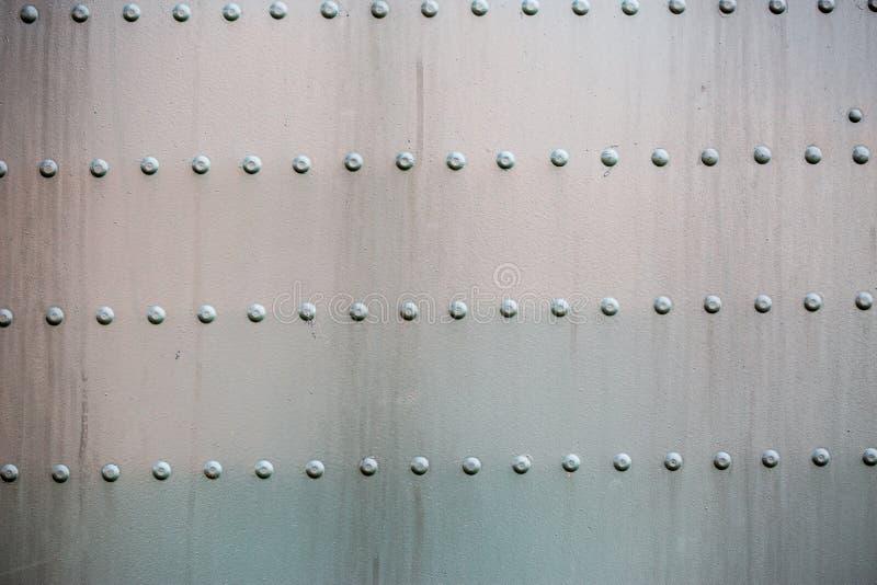 钢被铆牢的表面 库存图片