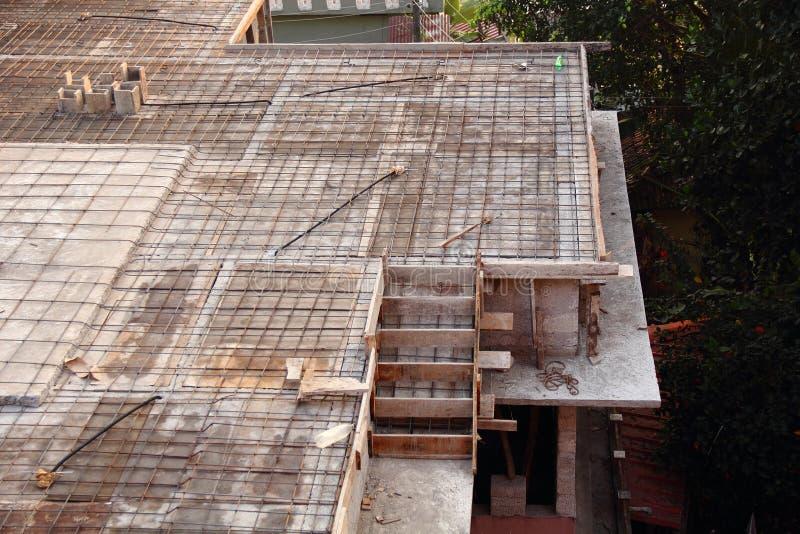 钢设计混凝土 免版税库存图片