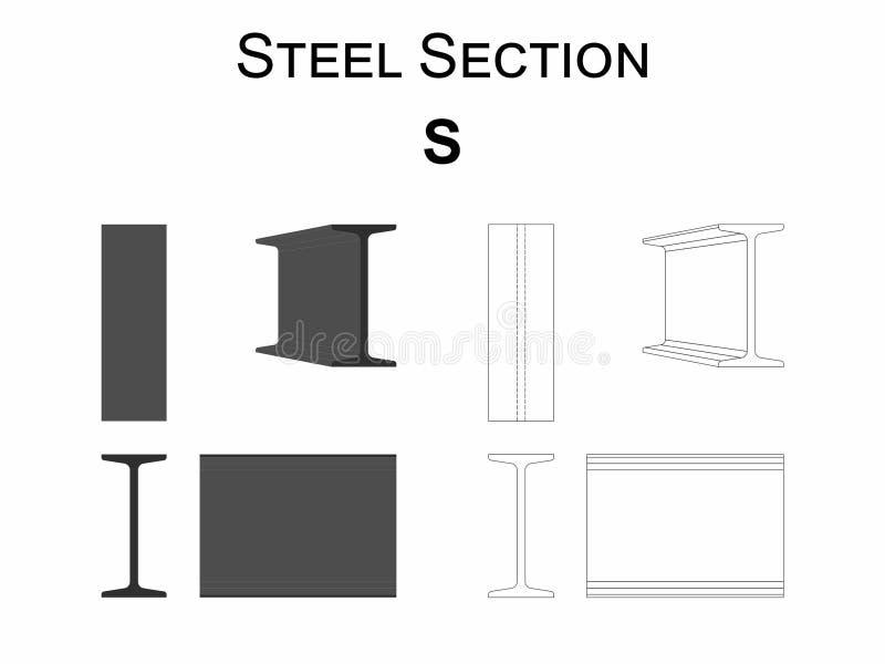 钢部分S 向量例证