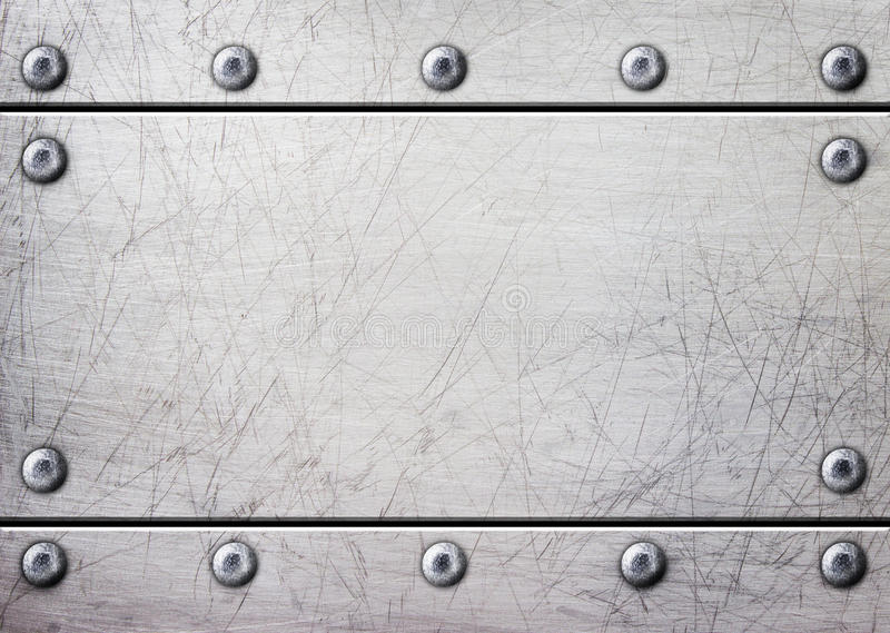 钢金属板有铆钉无缝的背景 库存例证