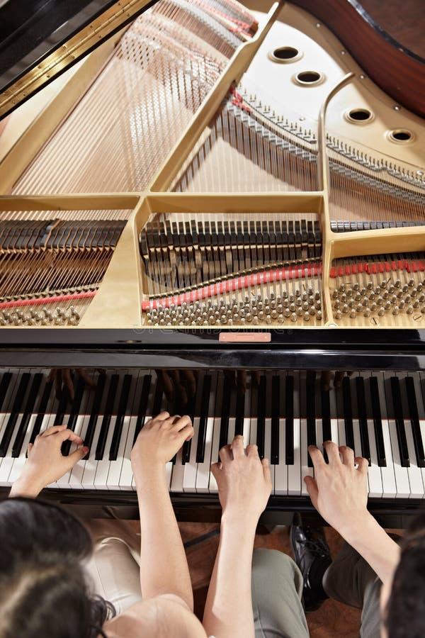 钢琴二重奏 免版税库存照片
