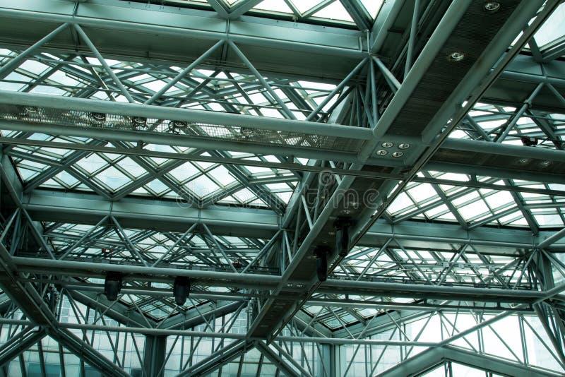 钢结构框架特写镜头  库存图片
