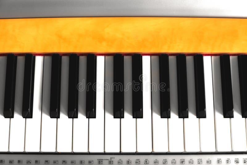 钢琴钥匙特写镜头  免版税图库摄影