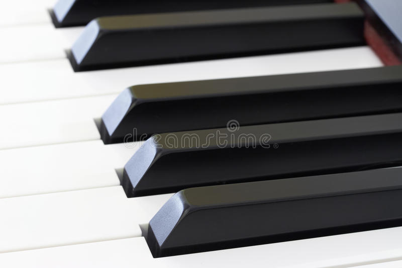 钢琴钥匙 免版税库存图片