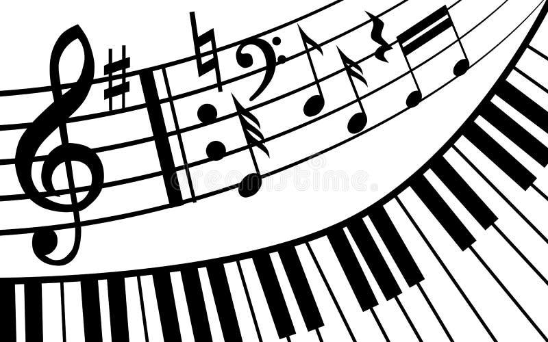 钢琴音乐 皇族释放例证