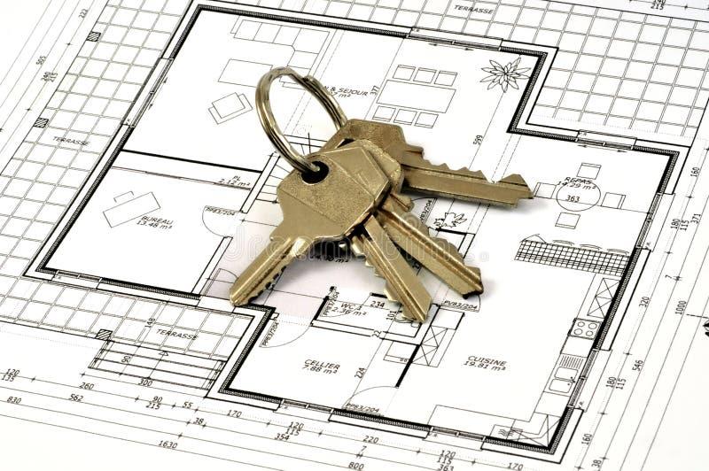 钥匙串在房子计划的 皇族释放例证