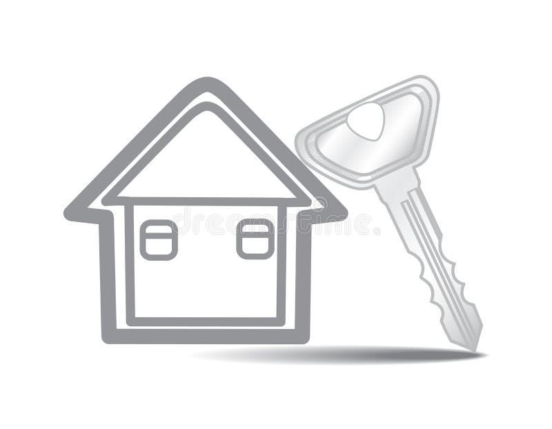 钥匙和房子 向量例证