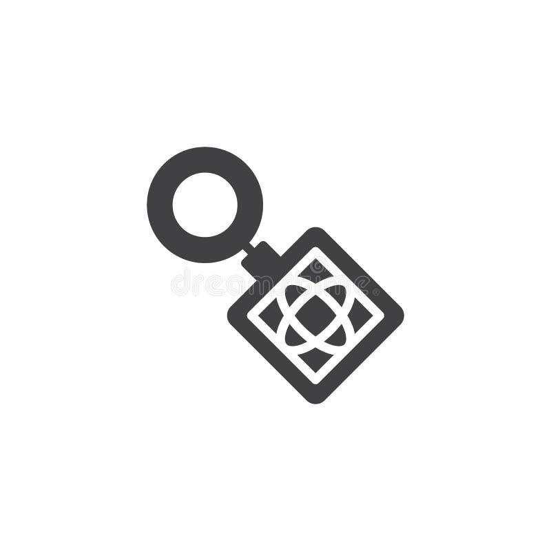 钥匙圈传染媒介象 皇族释放例证