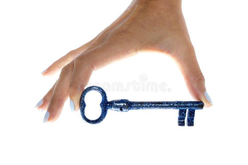 钥匙在手中ok 免版税库存照片