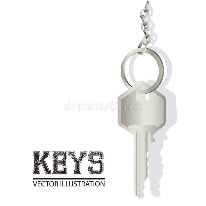 Download 钥匙的例证 向量例证. 插画 包括有 关键字, 工作室, 环形, 对象, 空白, 庄园, 存取, 亮光, 锁定 - 30332349