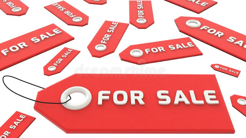 钥匙链待售 表面无光泽的材料 向量例证